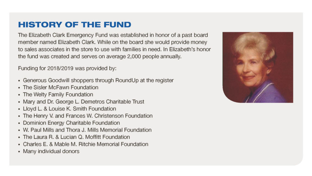 Elizabeth Clark Emergency Fund Infographic