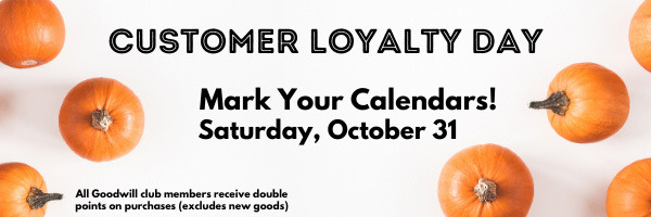 Customer Loyalty Day is Saturday, August 29, 2020