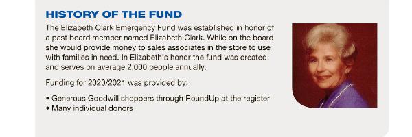 Elizabeth Clark Emergency Fund Infographic